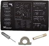 Glock Original Cleaning Work Tool Bench Gun Mat + Glock GT03374 3/32 Punch Armorers Gunsmith + Ultimate Arms Gear Recoil Cushion Buffer + 1.5
