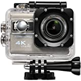 ICONNTECHS IT Ultra HD 4K Sport Action Camera WIFI 1080P 60fps HDMI 20MP+ 170 Degree Wide Viewing Angle Waterproof DV Camcorder for Extreme Outdoor Sports (Gray)