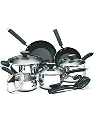 12 Piece Stainless Steel Nonstick Oven Safe Kitchen Cookware Set