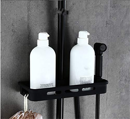 UNIQUE-F Matte Black Brass Body Four-Speed Bathtub Shower Set Rotatable Portable Top Spray Rack Corrosion-Resistant Wear-Resistant by UNIQUE-F (Image #5)