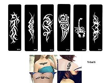 Tribal Tattoo Schablonen Vorlagen 6 Sheet Set Tribal Design Amazon