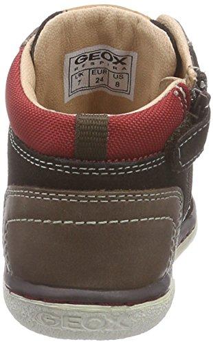 Geox B Flick Boy  - Zapatillas de deporte para bebés niños COFFEE/DK RED