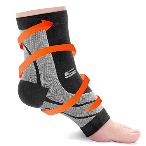 SLS3 Plantar Fasciitis Compression Socks | Foot Sleeves | 1 Pair (M)