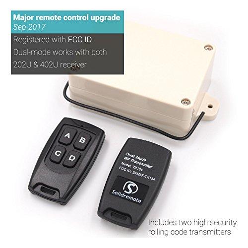 Solidremote 12v 24v secure wireless rf remote control for 12v garage door opener remote