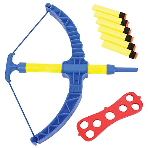 ArtCreativity Super Bow & Arrow Shooter Set | Comes in Blister Card Packaging | Includes Air-Powered Bow, Barrel, Six Soft Darts, Instructions & Cut-Out Dartboard | Sports Toy - Dart Foam Shooter