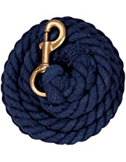 Weaver Leather Solid Color Cotton Lead Rope with Solid Brass 225 Snap