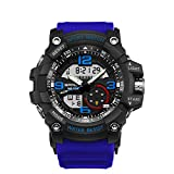 Wdnba Mens Watch Quartz Watch Military Watch Analog Digtal Wrist Watch Men's Sport LED Dive Watch