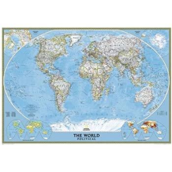 Amazon Com National Geographic World Executive Map Enlarged