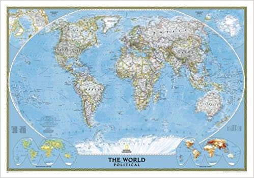 Geographic Map Of World.Buy World Classic Laminated Wall Maps World National Geographic