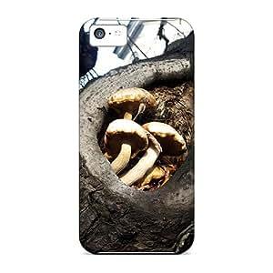 TinnySunshine Iphone 5c Hybrid Tpu Case Cover Silicon Bumper Mushrooms In A Tree
