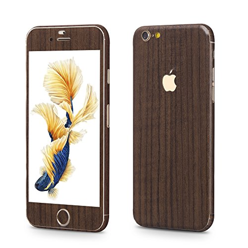 OKCS®Premium Glamorous sticker for Apple iPhone 6 Plus, 6s Plus Skin Glitter film Protector Slim Sticker film Case Cover in Wood-Optik in Crystal Brown - Wood Marron