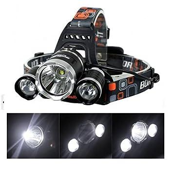 ヘッドライト AFUNTA Boruit LEDライト 充電式 防水超強力 5000LM 4点灯モード CREE