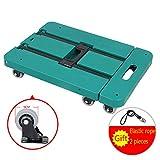 Folding Hand Truck Heavy Duty 6 Wheeled Luggage Cart