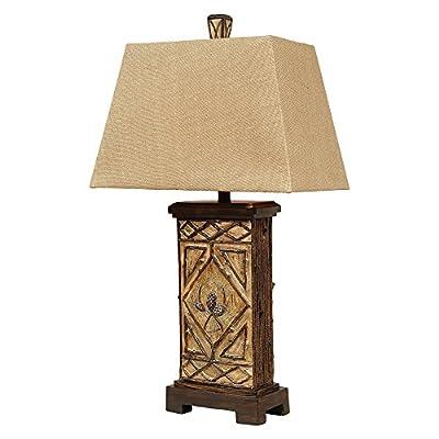 Pinecone Lodge Cabin Table Lamp - Rustic Lighting Fixtures