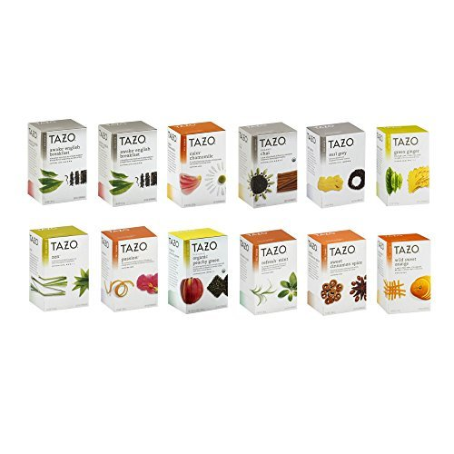 Tazo Tea 11 Flavor Sampler Variety Pack (12 Pack)