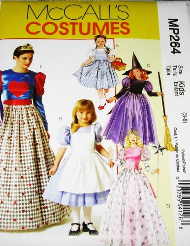 MCCALLS MP264 MISSES & CHILDREN COSTUMES: DORTHY, SNOW WHITE, WITCH, ALICE, QUEEN OF HEARTS (SIZE KIDS 3-8 & MISSES S,M,L,X-L) SEWING PATTERN -
