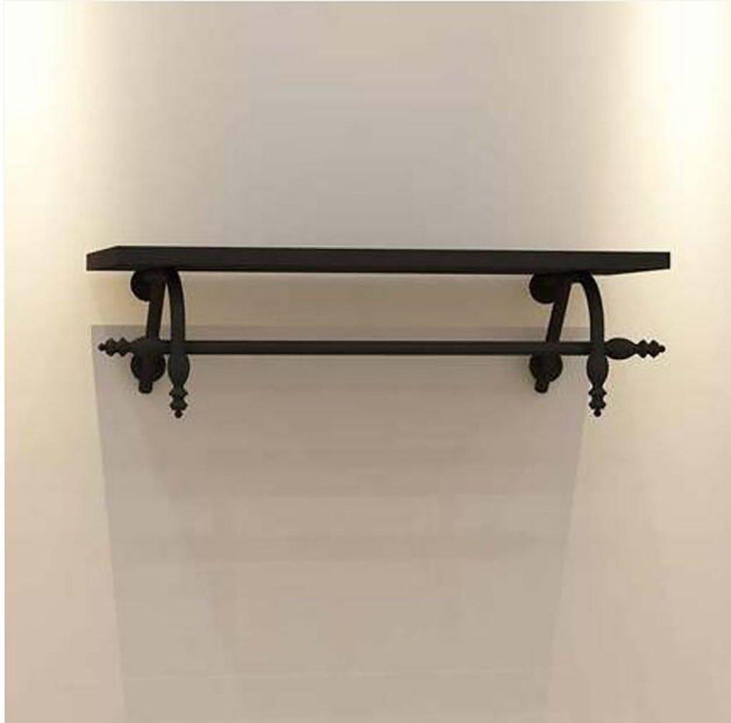 コートラック, ハンガー、錬鉄製の衣料品店ハンガー、頑丈な木製の壁掛け棚、男性と女性のレトロ服ラック (Color : A, Size : 100cm) B07SMTP326 A 100cm