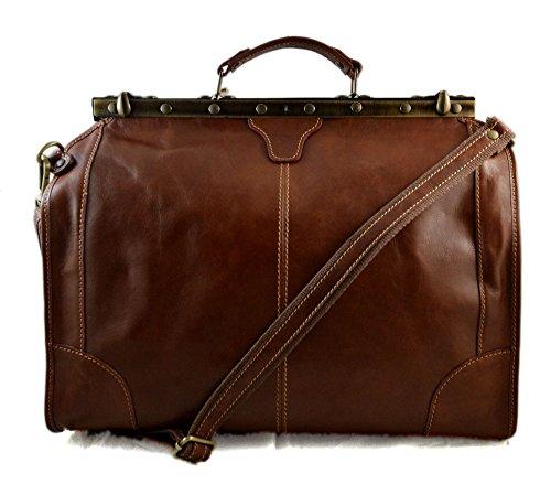 Leather doctor bag mens travel brown womens cabin luggage bag leather shoulder bag medical bag doctor bag weekender bag leather carryon by ItalianHandbags