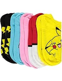 """Pokemon Boys' """"Catch 'Em All"""" 5-Pack Ankle Socks"""