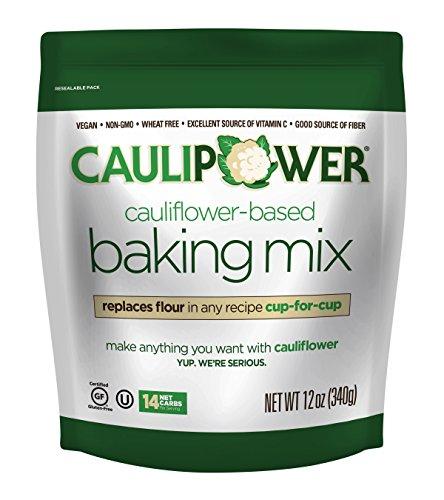 CAULIPOWER Cauliflower-Based Baking Mix, Original, 12 oz, All-Purpose Vegetable-Based Flour, Gluten Free, Vegan, Non-GMO