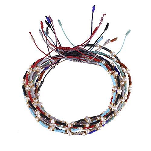 KELITCH Bohemia Tassels Friendship Bracelet Handmade Beaded Charm Bangles New Jewelry 10 PCS (10PCS Color 10)
