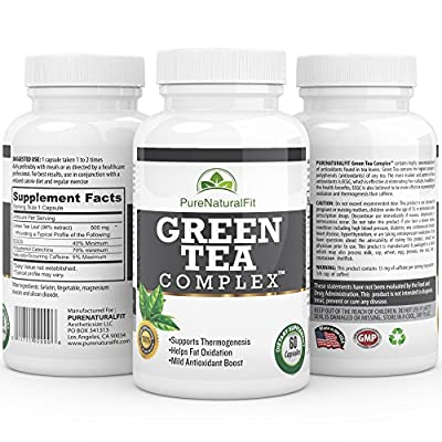 Best Green Tea Extract Supplement - Green Tea Complex - Weight Loss & Fat Burner 500mg Pills - EGCG Antioxidants for Men & Women