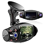 Aolbea Dual Dash Cam with IR Night Vision, FHD 1080P Front and 1080P Inside Cabin Dash Camera Wide Angle Lens,G-Sensor,Parking Mode,Motion Detection for Cars Truck Taxi Optional GPS