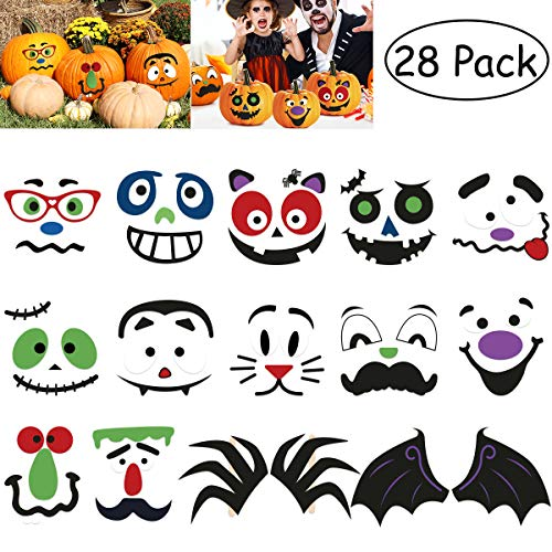 TOYMYTOY Halloween Pumpkin Stickers Decorations Goodie Bag Filler 28PCS ()