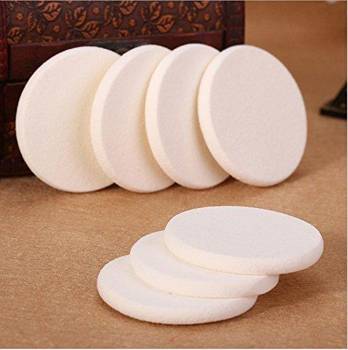 Qsoleil 3pcs Éponge de Maquillage bouffée sèche Visage Humide/Visage tampons en Éponge (Blanc)