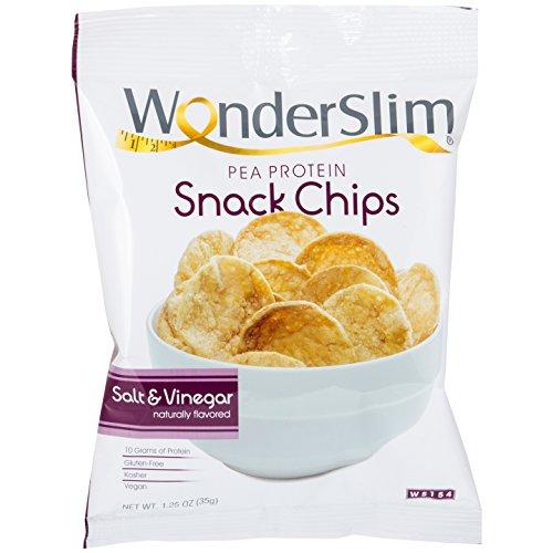 WonderSlim Pea Protein Snack Chips 10g  Salt amp Vinegar  LowCarb Diet Healthy Protein Snack  GlutenFree Vegan 10 Bags