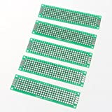 UXOXAS PCB Prototype Blank PCB 2 Layers Double Side 2 x 8cm Protoboard(5pcs), Green