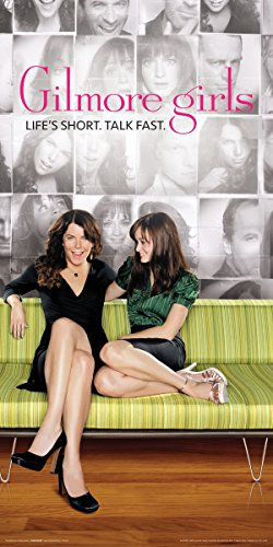 Gilmore Girls Lorelai and Rory Green Couch Comedy Drama TV Television Show Print (Unframed 12x24 Poster) ()