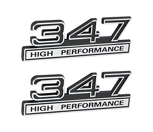 347 5.7 Liter Engine High Performance Emblems in Chrome & Black - 4