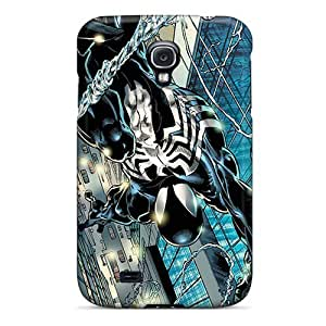 SpwkFjD2414ejMJk AnnetteL Awesome Case Cover Compatible With Galaxy S4 - Black Spiderman
