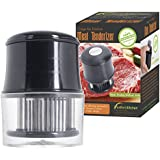 iPerfect Kitchen 56 Stainless Steel Blades Meat Tenderizer with Cleaning Brush - Set of 1 - Black