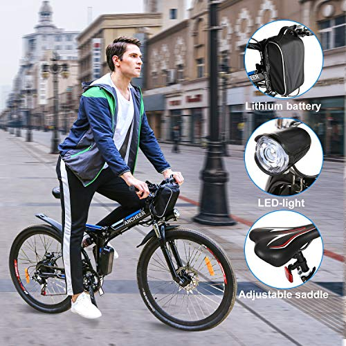Speedrid 26/27.5 Electric Bike, Aluminum Alloy ebike with Removable 36V 7.8 Ah 10.4Ah Lithium-ion Battery (Adventurer-White)