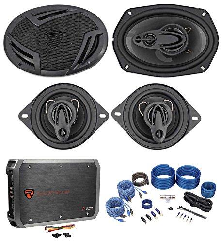 "Rockville RV69.4A 6x9 Speakers+ 3.5"" Speakers+4-Channel Amp"