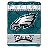 The Northwest Company Officially Licensed NFL Philadelphia Eagles 12th Man Plush Raschel Throw Blanket, 60