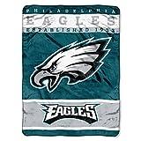 "The Northwest Company Officially Licensed NFL Philadelphia Eagles 12th Man Plush Raschel Throw Blanket, 60"" x 80"""