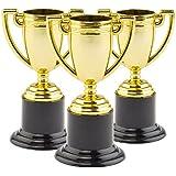 Lot de 6 Mini Trophées Dorés - Idéal comme cadeau de remise de prix