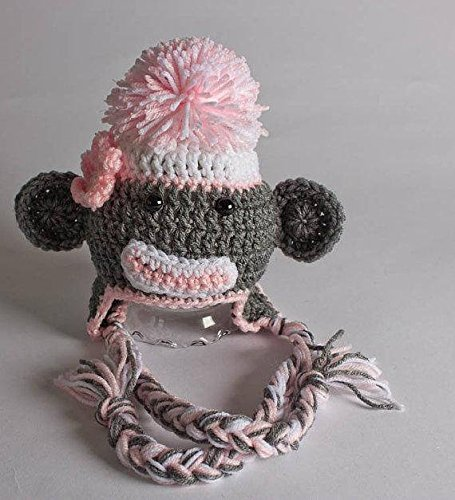 Amazon.com  Crochet Sock Monkey Hat  Handmade 100c4522279b