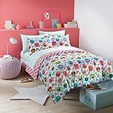 Emoji Bed in a Bag Set Emoji Girls Complete Reversible Bedding Comforter Set (Chevron Zebra, Full)