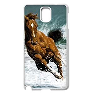 Diy Running Horse Phone Case for samsung galaxy note 3 White Shell Phone JFLIFE(TM) [Pattern-2]