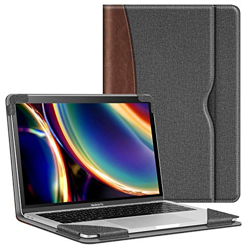 Fintie Sleeve Case for MacBook Air 13 A2237 (M1)/A2179/A1932 (2018-2020), Compatible w/ MacBook Pro 13 A2338 (M1)/A2251/A2289/A2159/A1989/A1706/A1708 (2016-2020), PU Leather Folio Book Cover, Gray