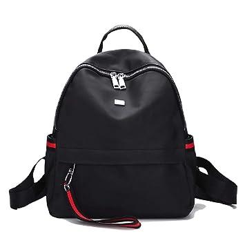 Heeecgoods Mochilas Mujer Universidad Informal Mochila de viaje Escuela impermeable negro Nylon (Color : Negro): Amazon.es: Equipaje