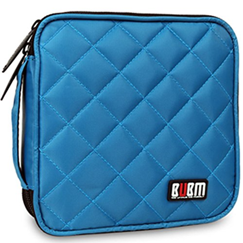 32 Capacity CD / DVD Wallet, 230D Space Twill Cover, Various Colors - Blue