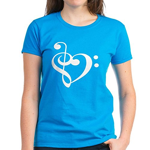 CafePress Treble Heart Womens T Shirt