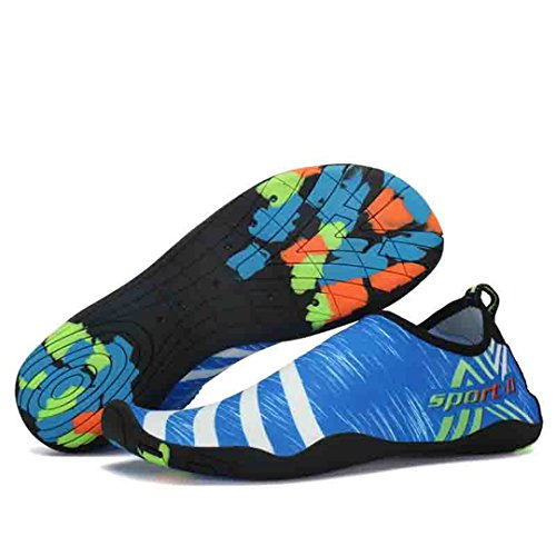 Male And Female Beach Outdoor Swimming Neutral Soft Beach Walk Lover Yoga Shoes Blue 6 by BEACHR
