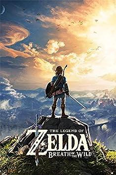 Póster The Legend of Zelda - Breath of the Wild/Sunset (61cm x 91,5cm) + 1 póster sorpresa de regalo