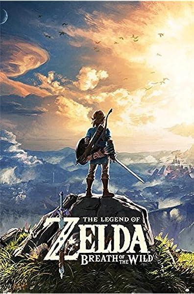 Póster The Legend of Zelda - Breath of the Wild/Sunset (61cm x 91,5cm) + 1 póster sorpresa de regalo: Amazon.es: Hogar